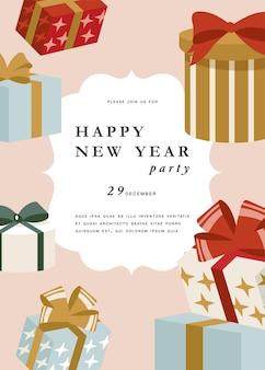 Projeto illustartion para cartão de felicitações de natal ou convite para festa