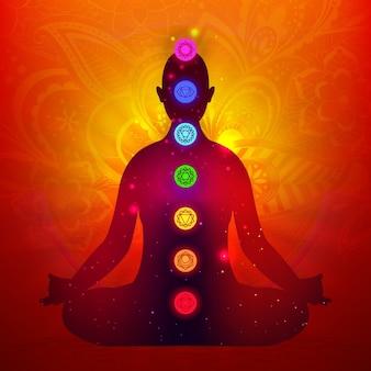Projeto ilustrado de chakras