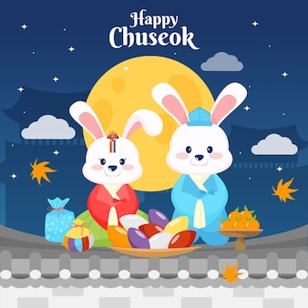 Projeto ilustrado do festival chuseok