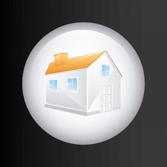 Projeto imobiliário sobre ilustração vetorial de fundo cinza