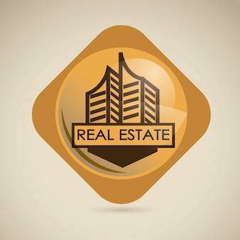 Projeto imobiliário sobre ilustração vetorial de fundo