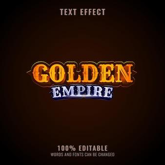 Projeto império dourado com efeito de texto fantasia