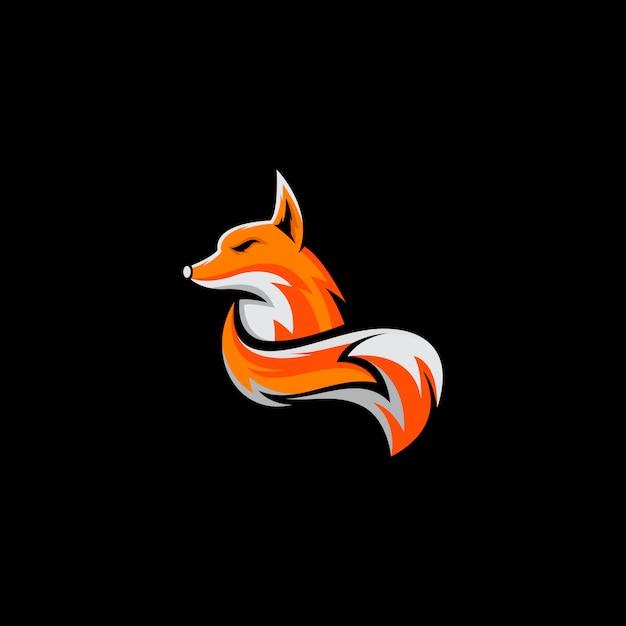 Projeto impressionante do logotipo da raposa pronto para uso