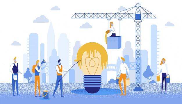 Projeto informativo do banner para colorir a ideia de negócio.