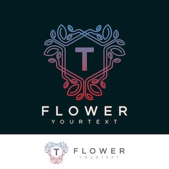 Projeto inicial do logotipo da letra t da flor