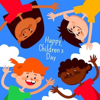 Projeto internacional do dia das crianças para ilustração