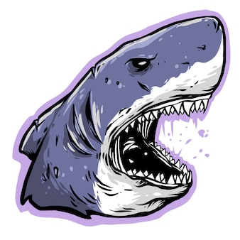 Projeto irritado da cabeça do tubarão