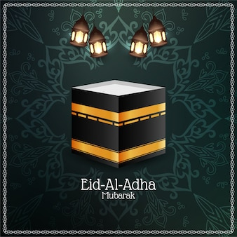 Projeto islâmico do fundo do festival eid-al-adha mubarak