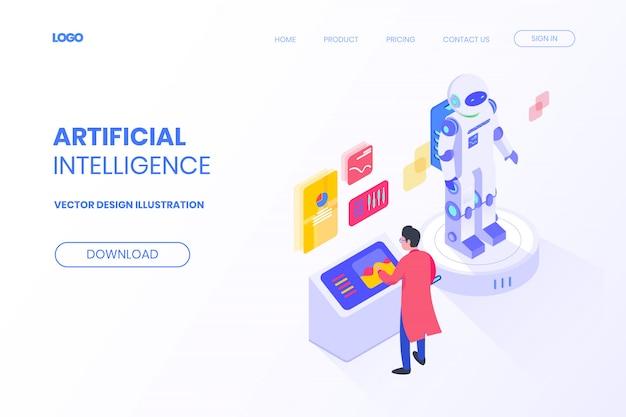 Projeto isométrico da tecnologia de investimento em mineração de bitcoin