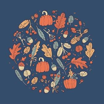 Projeto linear cartão de cumprimentos do festival da colheita. ícone de ang de tipografia para fundo de férias de outono, banners ou cartazes e outros para impressão.
