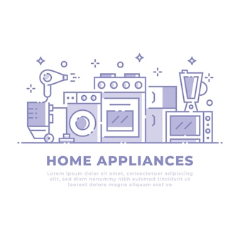Projeto linear de eletrodomésticos