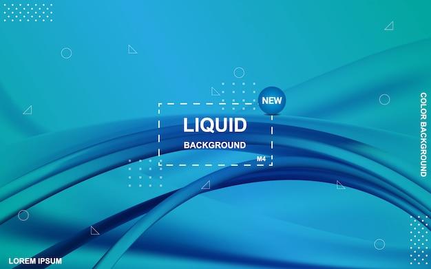 Projeto líquido do fundo da cor composição de formas de gradiente fluida.
