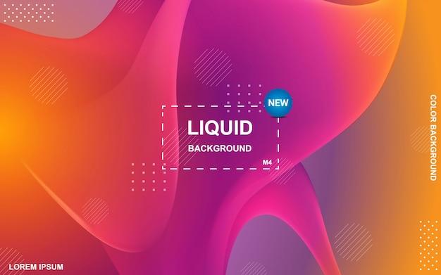 Projeto líquido do fundo da cor composição de formas fluidas