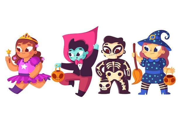 Projeto liso coleção infantil de halloween