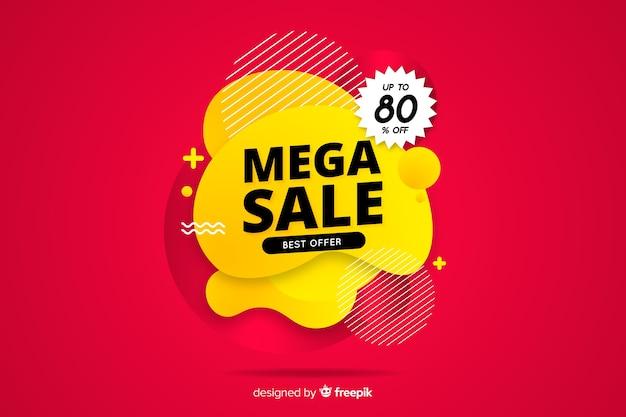 Projeto liso do fundo abstrato das vendas do mega