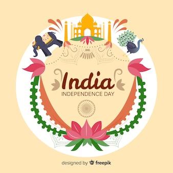 Projeto liso do fundo do dia da independência da índia