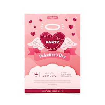 Projeto liso do modelo do folheto da festa do dia dos namorados