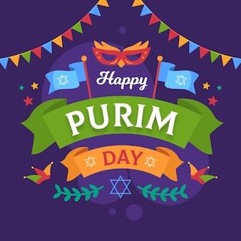 Projeto liso saudação feliz dia do purim