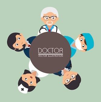 Projeto médico, ilustração vetorial.