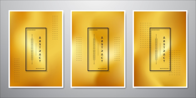 Projeto minimalista abstrato do fundo do ouro