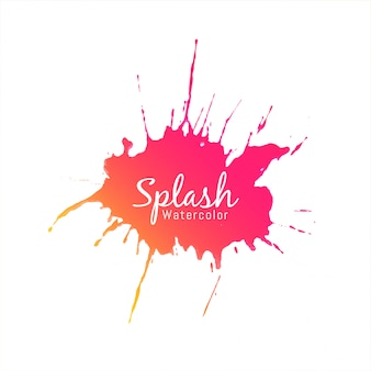 Projeto moderno colorido aquarela splash