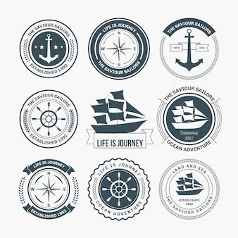 Projeto náutico de emblemas