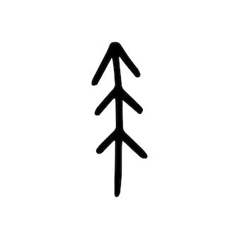 Projeto nórdico abstrato de árvore para decoração de interiores, impressão de pôsteres, cartão grande, banner de negócios, embalagem em estilo escandinavo moderno em vetor