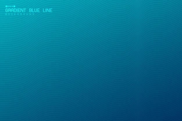Projeto ondulado azul do inclinação abstrato do fundo mínimo da arte finala com tecnologia do teste padrão de ponto.