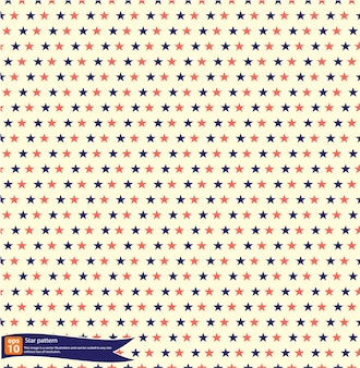 Projeto padrão do vetor do teste padrão da estrela do vintage, teste padrão sem emenda com estrelas na bandeira nacional americana.