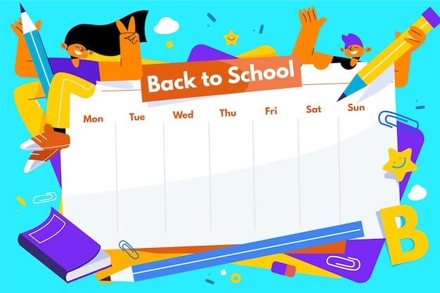Projeto plano de volta ao calendário escolar