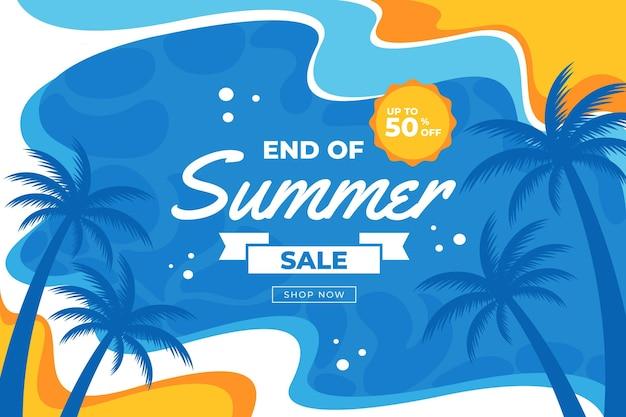Projeto promocional de venda de verão