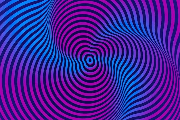 Projeto psicodélico de ilusão de ótica de fundo