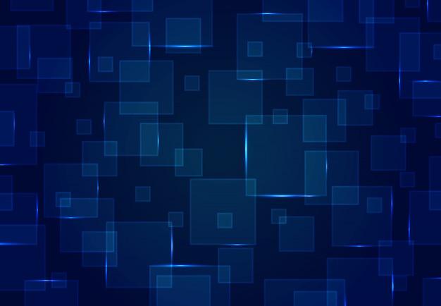 Projeto quadrado azul abstrato do teste padrão do fundo futurista da arte finala do projeto.