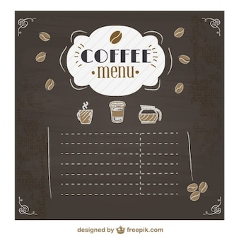 Projeto quadro menu de café