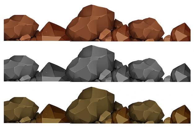 Projeto sem emenda de rochas