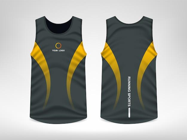 Projeto sem mangas do t-shirt do esporte