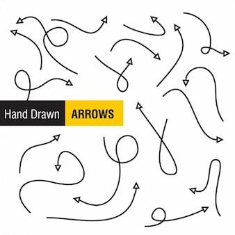 Projeto setas desenhadas mão