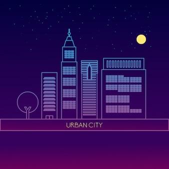 Projeto skyline da cidade
