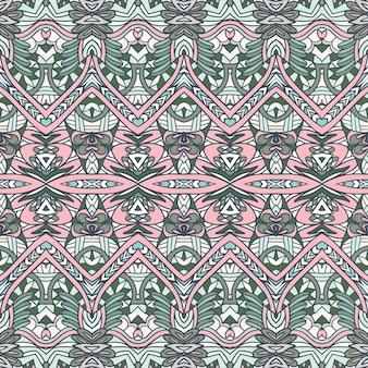 Projeto têxtil ornamental de estilo vitoriano abstrato padrão sem emenda étnico