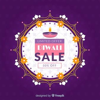 Projeto tradicional abstrato de venda de diwali