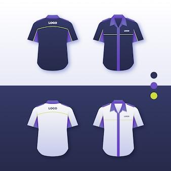Projeto uniforme da camisa da empresa