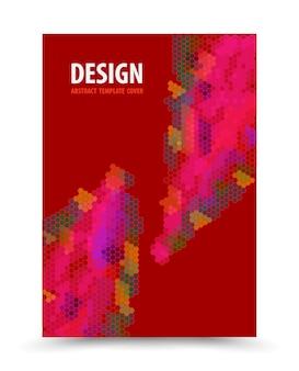 Projeto vermelho do fundo do molde de capa do livro.