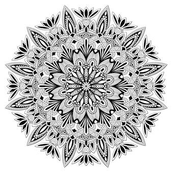 Projeto vintage mandala para impressão. ornamento tribal