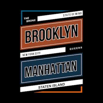 Projeto vintage tipográfico de brooklyn
