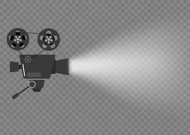 Projetor de cinema de filme antigo.