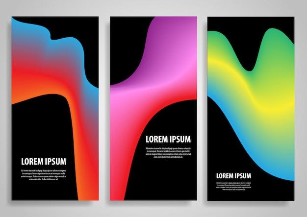 Projetos abstratos de banner gradiente