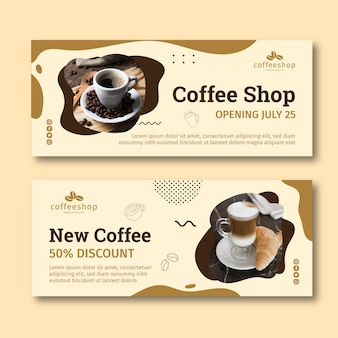 Projetos de banners de café