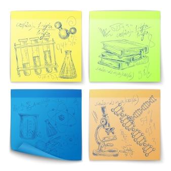 Projetos de ciência desenhados mão