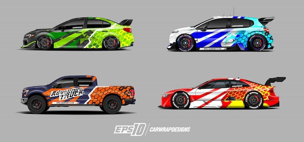 Projetos de decalque de carros para corrida