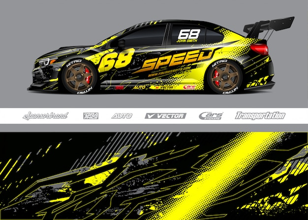 Projetos de decoração de carros de corrida